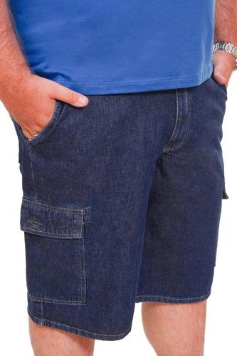 Bermuda Jeans Masculina Plus Size Até Nº 68 Tamanho Grande Original