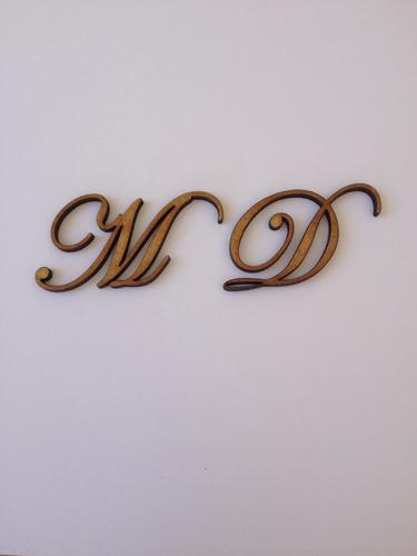 Letras Mdf Fonte Eduardian Script 3cm 100 Unidades
