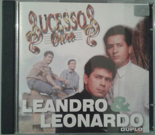 Cd Duplo Leandro E Leonardo - Sucessos De Ouro Original