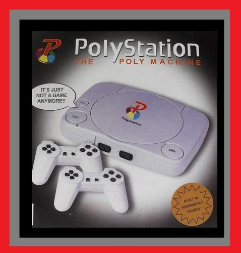 Video Game Polystation 3 Preto 9999 Jogos +1 Cartucho Brinde
