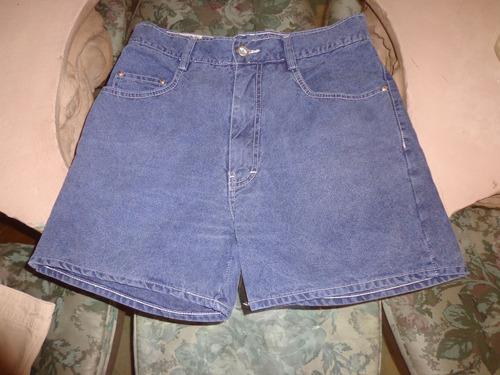 Bermuda Shorts Jeans Carmin Nova C/ Botão 2 Bolsos E Zipper Original