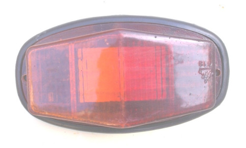Lanterna Bicolor Reta Para Choque Caminhão Antiga Original