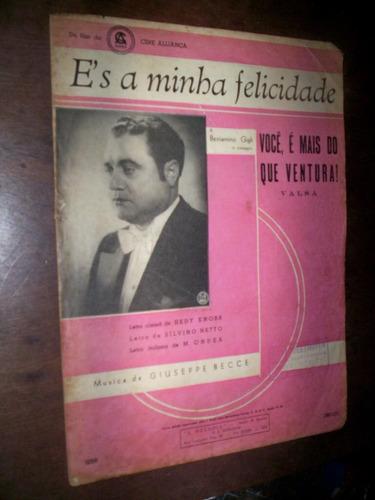Partitura Você É Mais Do Que Ventura 1936 Original