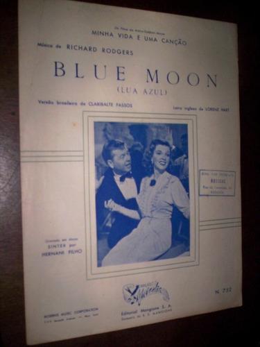 Rara Partitura Blue Moon Richard Rodgers Original