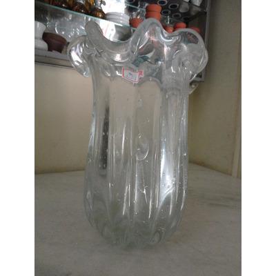 13922 murano vaso cristal grande transparente com - Vasos grandes cristal ...