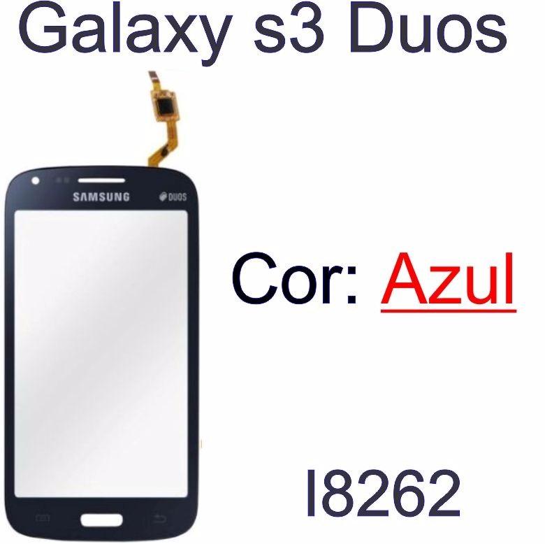 Tela Touch Screen Samsung Galaxy S3 Duos I8262 Só Azul