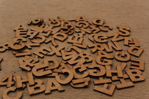 65 Letras Em Mdf Cru 3cm De Altura Arial Black R$0,20 Cada