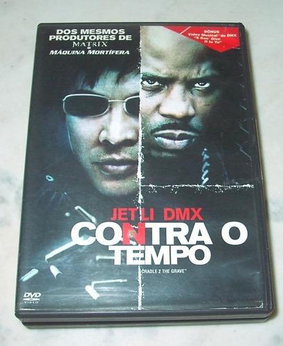 Dvd - Contra O Tempo Semi-novo Com Jet Li E Dmx Original