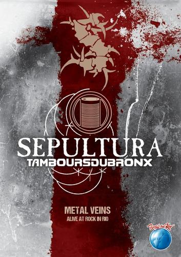 Dvd Sepultura Metal Veins Alive At Rock In Rio  Novo Original