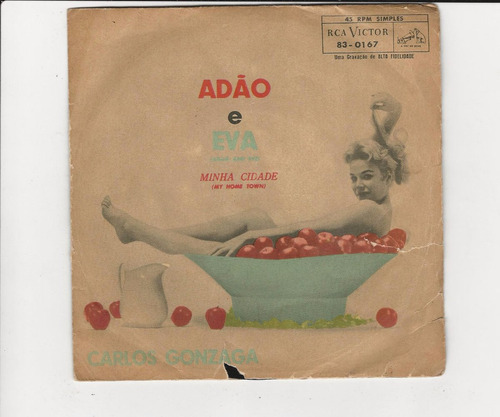Carlos Gonzaga - Adão E Eva - Compacto Ep 36 Original