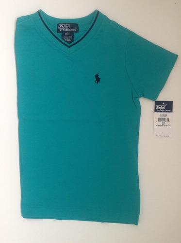 Camiseta Gola  V  Menino Ralph Lauren Original