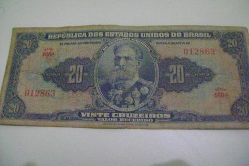 Cédula Nota De 20, Vinte Cruzeiros Sem Assinatura