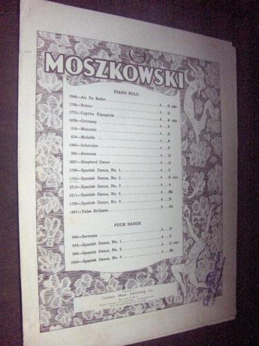 Partitura Spanish Dance N 2 Moszkowski Original