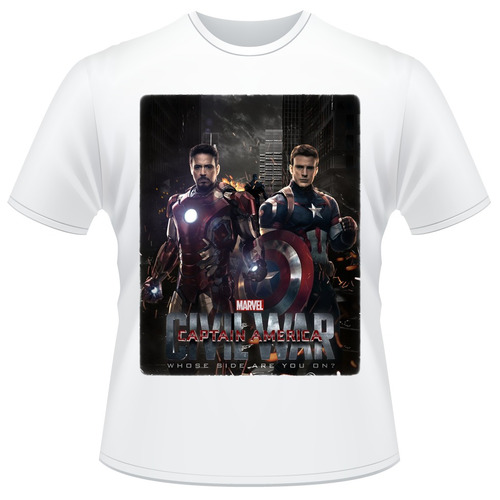 Camisa Capitão América - Guerra Civil