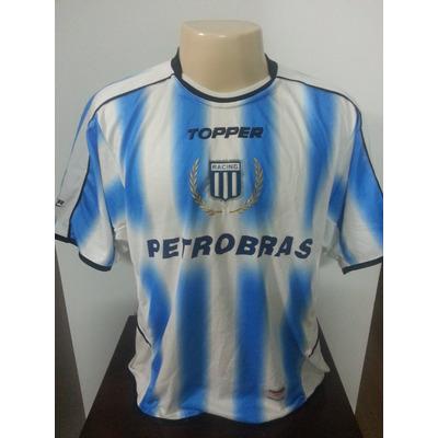 camisa racing da argentina antiga original topper 20 r 149 00 em mercado livre. Black Bedroom Furniture Sets. Home Design Ideas