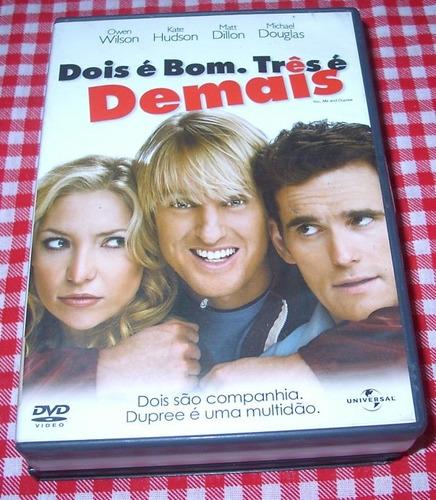 Dvd - Dois É Bom. Tres É Demais -novo- Owen Wilson Original
