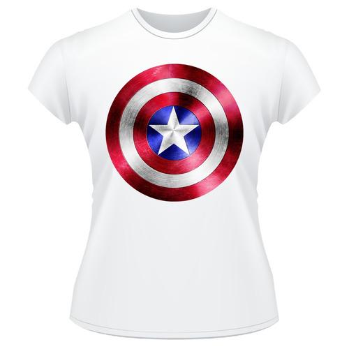 Baby Look Capitão América - Escudo