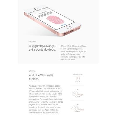 Iphone Se Apple 16gb Cinza Espacial 4g Tela 4 Garantia Apple em Ribeirão Preto