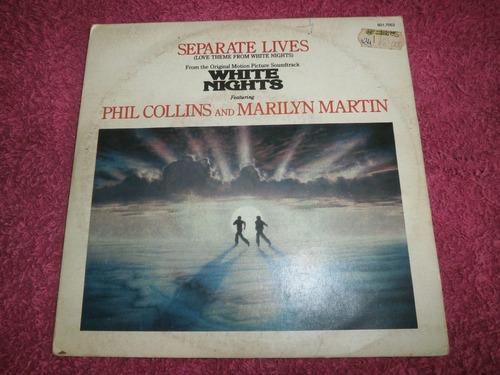 Lp Compacto Phil Collins & Marilyn - Separate Lives, 1985 Original