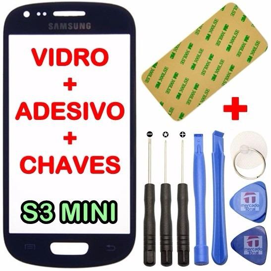 Tela Vidro Galaxy S3 Mini I8190 Display Adesivo +ferramentas