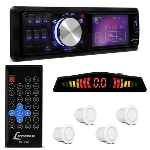 Mp3 Player Lenoxx Ad2601 + 4 Sensores De Estacionamento Bran