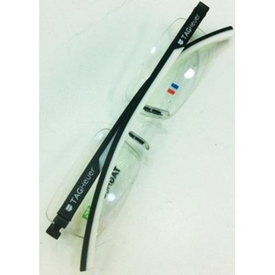 c3055bffa4fc3 Armação Oculos De Grau Sem Aro Th0843 Preto Branco Silicone   SALDÃO ...