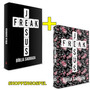 Kit 02 Bíblias Jesus Freak Nvi Dura Floral Preta Lucinho