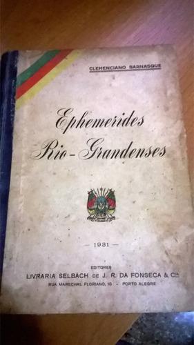 Ephemerides Rio-grandenses - 1931