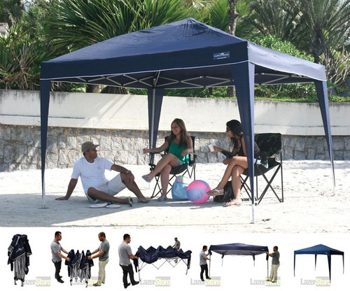 Tenda Gazebo Praia Sanfonado 3 X 3 M Trixx Nautika Uv
