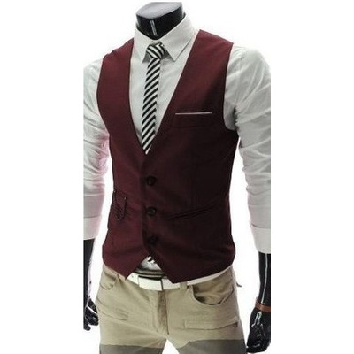Mens fashion jeans and vest 87