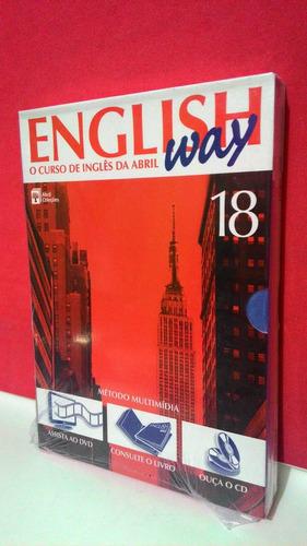 English Way Nº18 - Curso Inglês Abril Kit 1 Cd+1 Dvd+1 Livro Original
