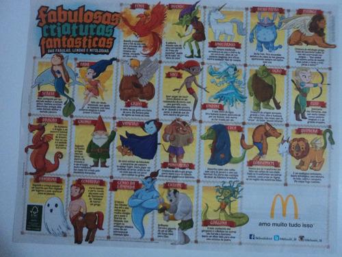 Papel De Bandeja Mc Donalds -fabulosas Criaturas Fantásticas Original
