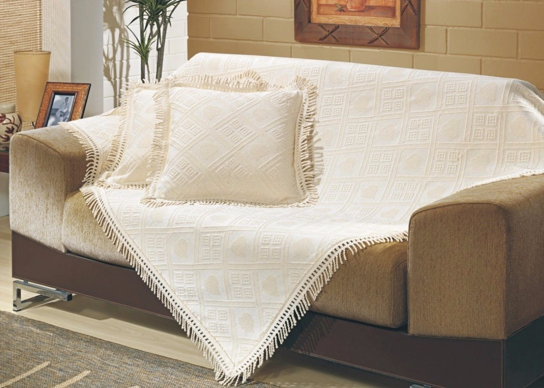Kit 3p manta p sof c 2 capas de almofada 150x150 for Mantas para sofas