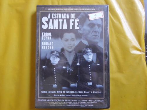 Dvd A Estrada Santa Fé / Novo / Errol Flynn - Ronald Reagan Original