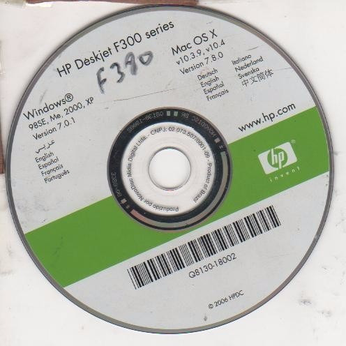 Cd De  Para Impressora  Hp Deskjet F38-f300 Original