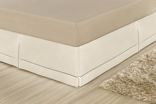 Saia P/cama Box King Percal 100%algodão Ponto Palito Palha Original