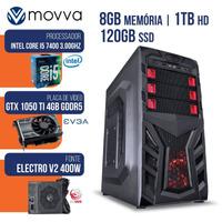 COMPUTADOR GAMER MVX5 INTEL I5 7400 3.0GHZ 7ª GER MEM 8GB HD 1TB SSD 120GB HDMI/VGA/DVI-D VGA GTX 1050 TI 4GB FONTE 400W