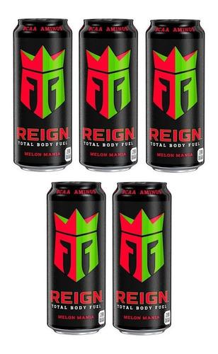 5 Bebidas Energética Reign Body Fuel Sabor Melon Mania 473ml Original