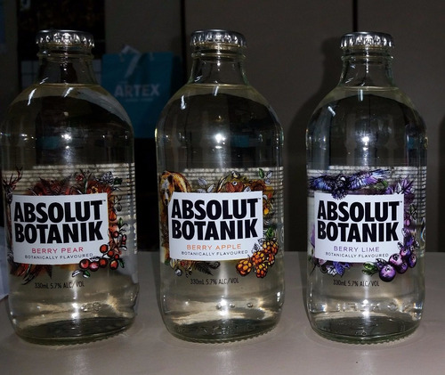 Vodka Absolut Botanik Set Garrafas 3x330ml Lacradas Colecao Original