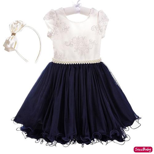 3b31d00d20 Vestido Festa Infantil Juvenil Princesa Chique Casamento - SissiBaby