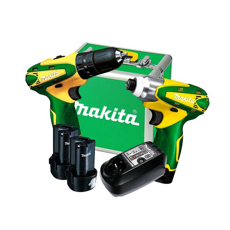 Kit Furadeira e Parafusadeira HP330DBR/TD090DBR+Carregador e 2 Baterias-DK1493BR- Makita-Bivolt+Aspirador de Pó à Bateria CL100DZ - Makita