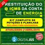 Petição Cobrança Indevida De Icms Conta De Energia Elétrica