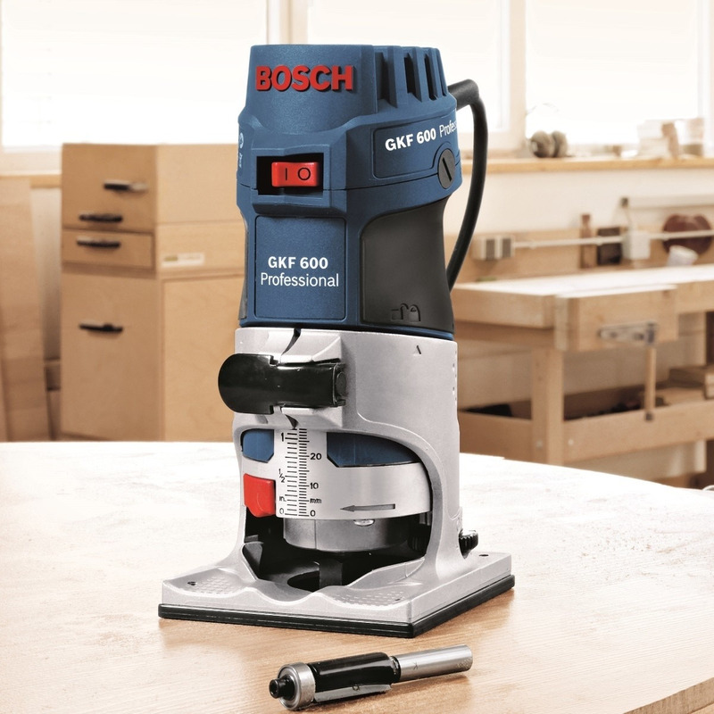 "Tupia Laminadora 1/4"" 600W GKF 600 160A.0 - 060160A0D0 - Bosch - 110 Volts"