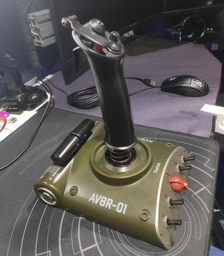 Joystick Manche Saitek Av8r-01 Para Simulador De Voo Original