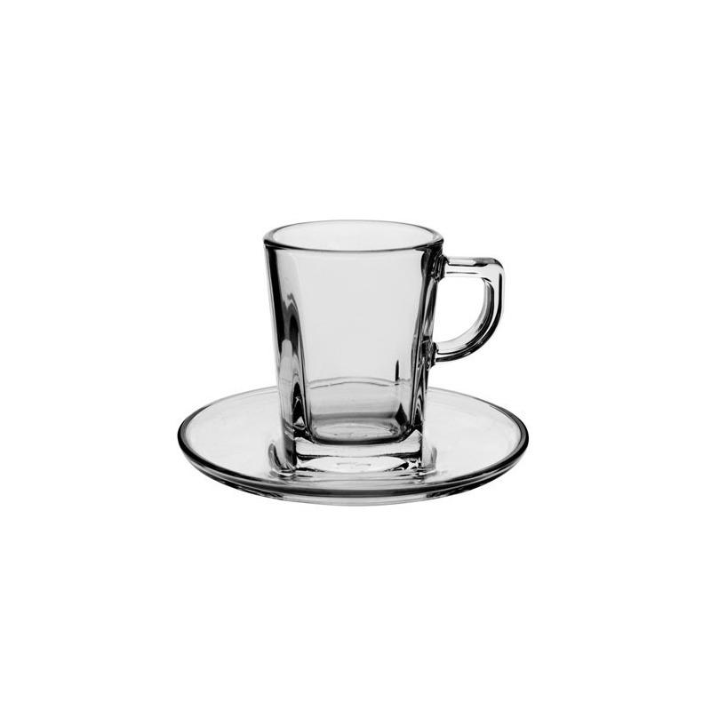Jogo 12 peças para Café Expresso em Vidro Carre- Pasabache 7546289