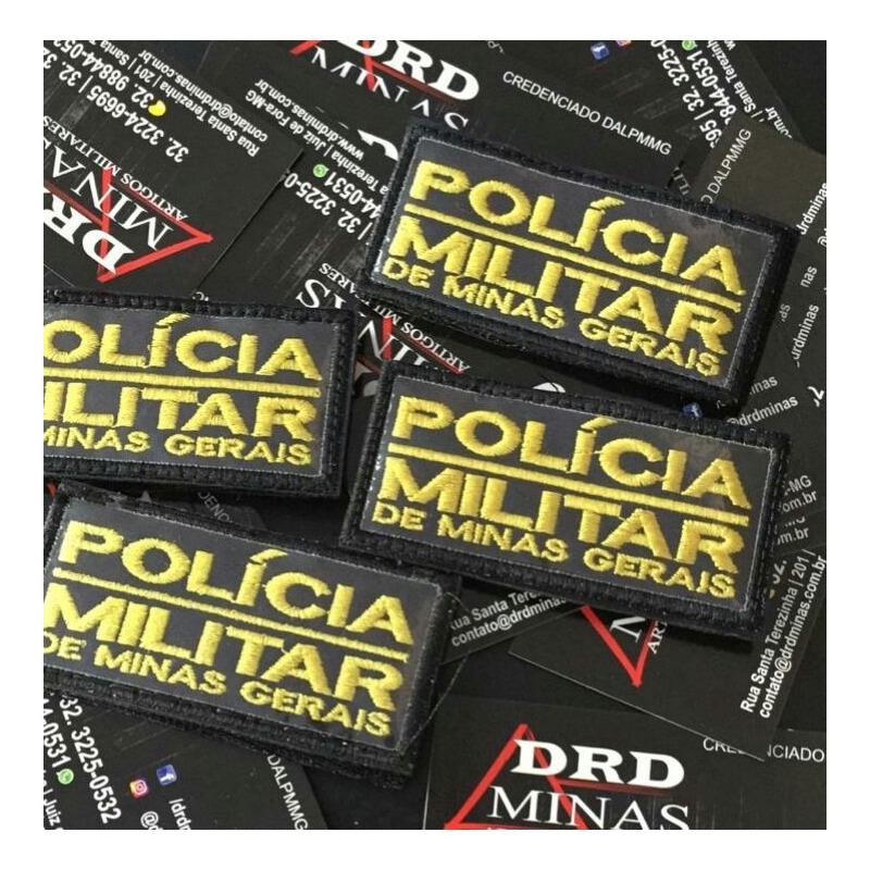 Etiqueta pequena PMMG Bordada / TAM 7cmX4cm