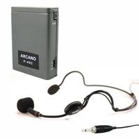 Microfone Auricular Arcano Hds-100 C/ Alimentador De Corpo