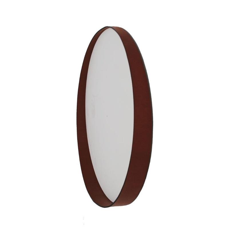Espelho Dani Oruy em Couro Legítimo 60cm