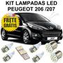 Kit Lampadas Led Peugeot 206 / 207 Frete Gratis