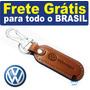 Chaveiro Volkswagen Carro Mosquetão Couro Gol Frete Gratis